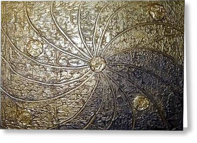 Spiral Reliefs Greeting Cards - Golden Age Greeting Card by Edwin Alverio