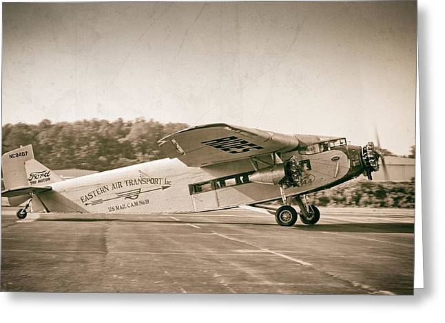 Ford Trimotor Greeting Cards - Golden Age Trimotor Greeting Card by Chris Buff