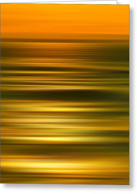 Abstracts Art Photographs Greeting Cards - Golden Aqua Bumps Greeting Card by Az Jackson