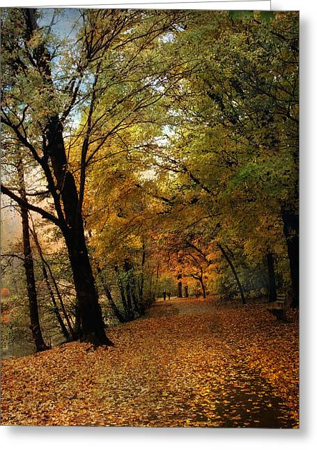 Autumn Landscape Photographs Greeting Cards - Golden Carpet Greeting Card by Jessica Jenney