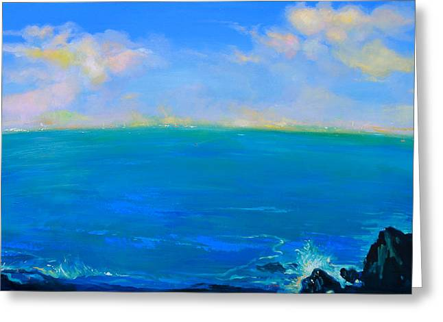 Marin County Greeting Cards - Golden Clouds from Point Bonita Greeting Card by Yuvak Tuladhar
