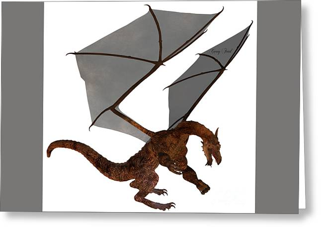 Fantasy Creatures Greeting Cards - Golden Dragon Greeting Card by Corey Ford