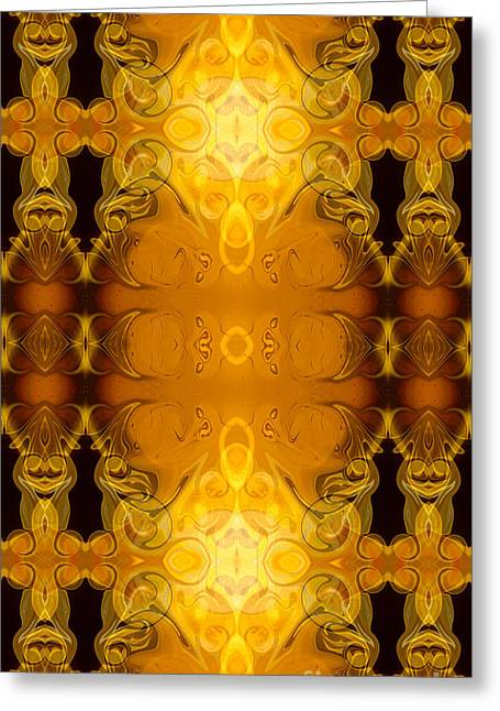 Undecided Greeting Cards - Golden Dreams Abstract Organic Bliss Art by Omaste Witkowski Greeting Card by Omaste Witkowski