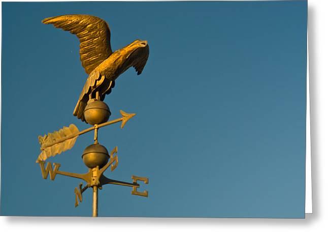 Golden Eagle Weather Vane Greeting Card by Douglas Barnett