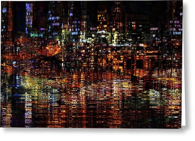 Urban Images Greeting Cards - Golden Evening Greeting Card by Kiki Art