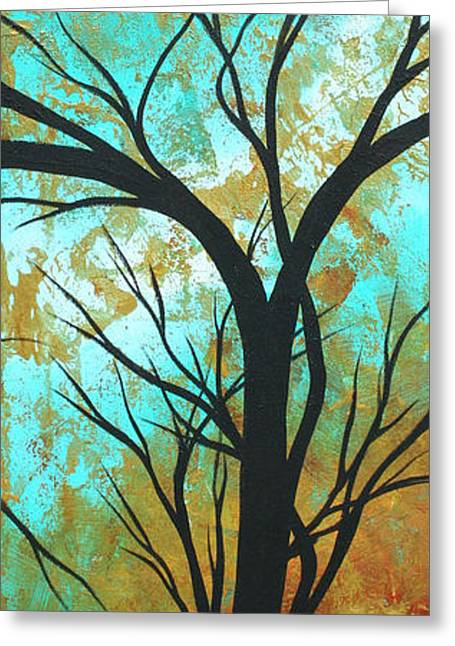 Duncanson Greeting Cards - Golden Fascination 4 Greeting Card by Megan Duncanson