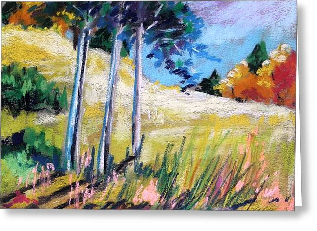Warm Summer Pastels Greeting Cards - Golden Fields Greeting Card by John  Williams