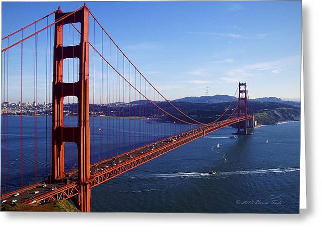 California Ocean Photography Greeting Cards - Golden Gate Afternoon Greeting Card by Brian Tada
