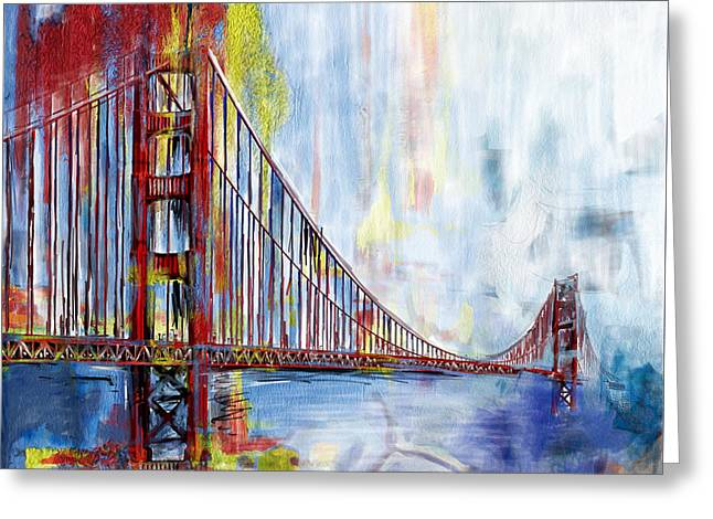 Golden Gate Bridge 218 1  Greeting Card by Mawra Tahreem