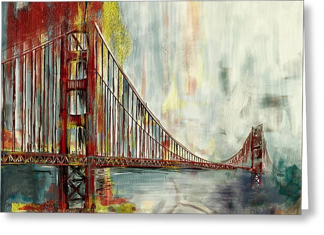 Golden Gate Bridge 218 4 Greeting Card by Mawra Tahreem