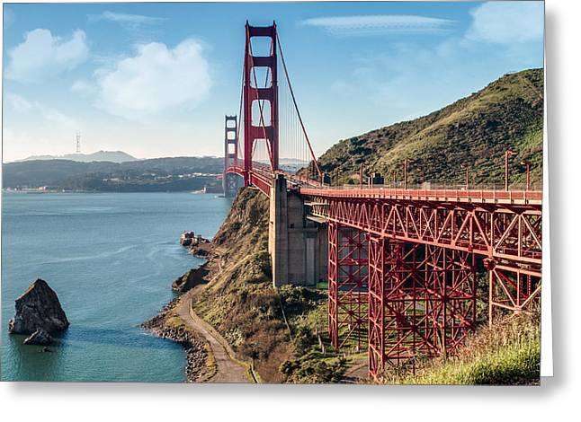 Ocean Art Photography Greeting Cards - Golden Gate Bridge 3 Greeting Card by Patti Deters