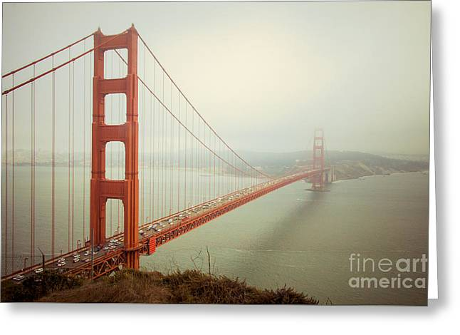Golden Greeting Cards - Golden Gate Bridge Greeting Card by Ana V  Ramirez