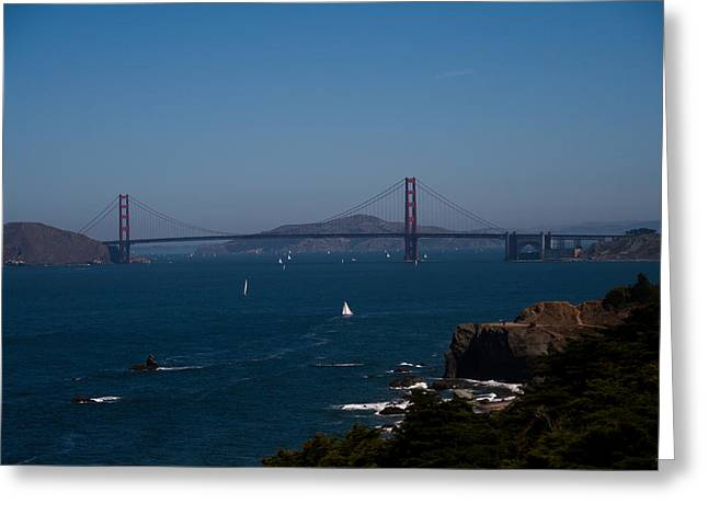 Marin County Greeting Cards - Golden Gate Bridge Greeting Card by Douglas Ransom