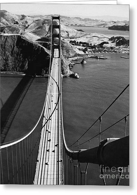Marin County Greeting Cards - Golden Gate Bridge Greeting Card by Fred Lyon