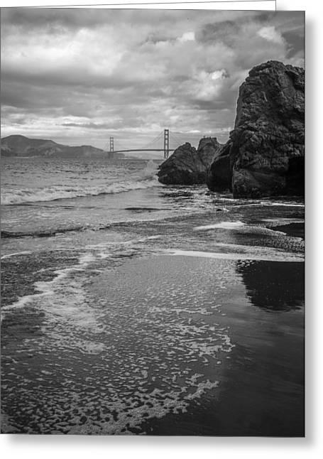 China Beach Greeting Cards - Golden Gate Bridge from China Beach Greeting Card by Judith Barath