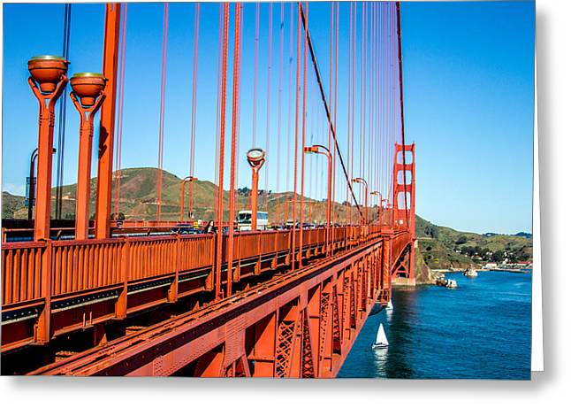 Famous Bridge Greeting Cards - Golden Gate Bridge - From The Edge Greeting Card by Bill Gallagher