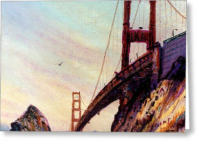 Golden Gate Bridge Looking South Greeting Card by Donald Maier