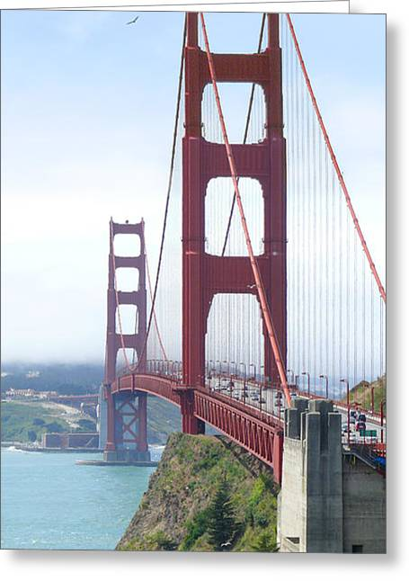 Golden Gate Bridge Greeting Card by Mike McGlothlen