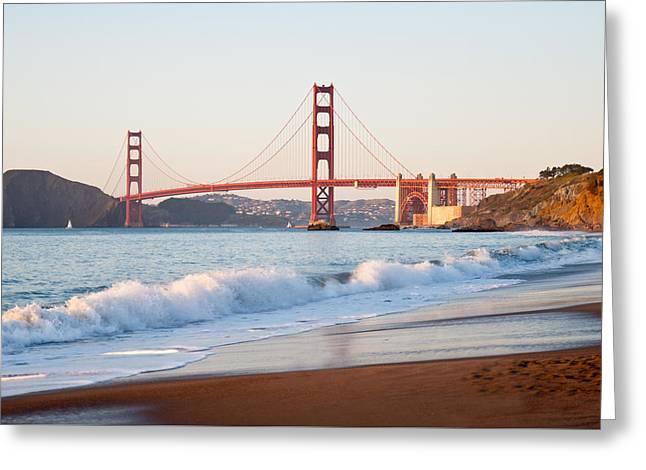 San Francisco Bay Greeting Cards - Golden Gate Bridge Greeting Card by RJ Hill