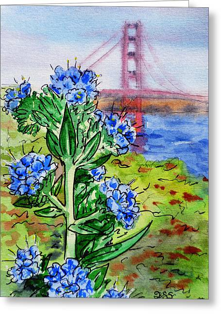 Touristic Greeting Cards - Golden Gate Bridge San Francisco Greeting Card by Irina Sztukowski