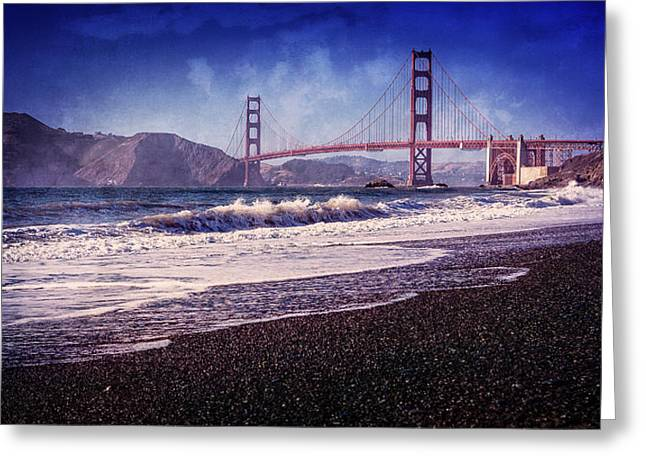 Golden Gate Greeting Card by Everet Regal
