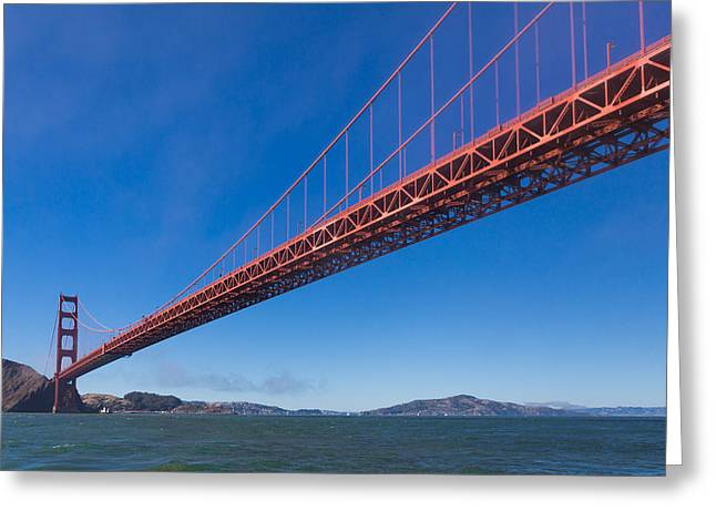 Golden Gate From The Bay Greeting Card by Scott Campbell
