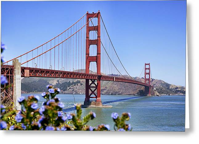 Frisco Greeting Cards - Golden Gate Greeting Card by Kelley King