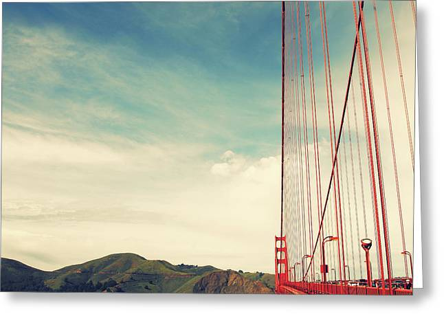 Matt Greeting Cards - Golden Gate Greeting Card by Matt