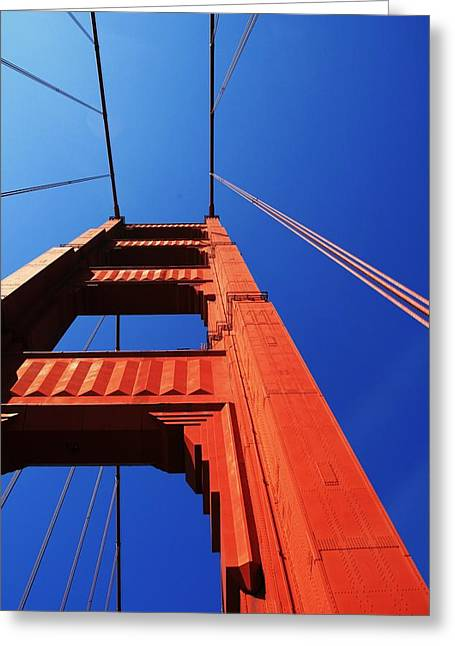 Marin County Greeting Cards - Golden Gate Tower Greeting Card by Douglas Ransom
