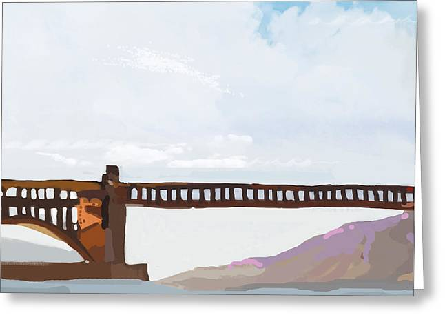 Trenches Paintings Greeting Cards - Golden Gate Two Greeting Card by Brad Burns