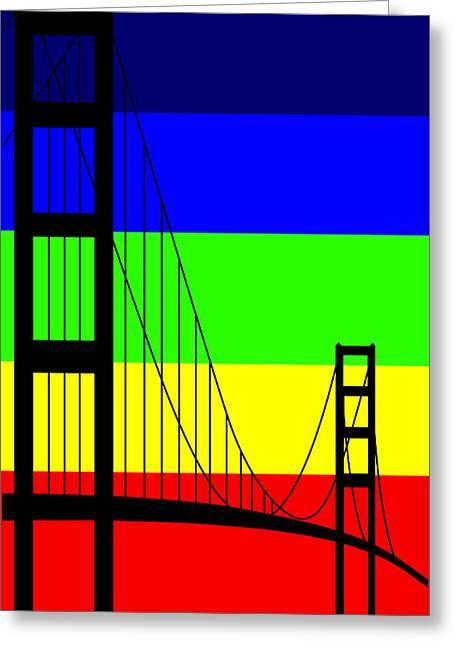 Asbjorn Lonvig Digital Art Greeting Cards - Golden Gay Greeting Card by Asbjorn Lonvig