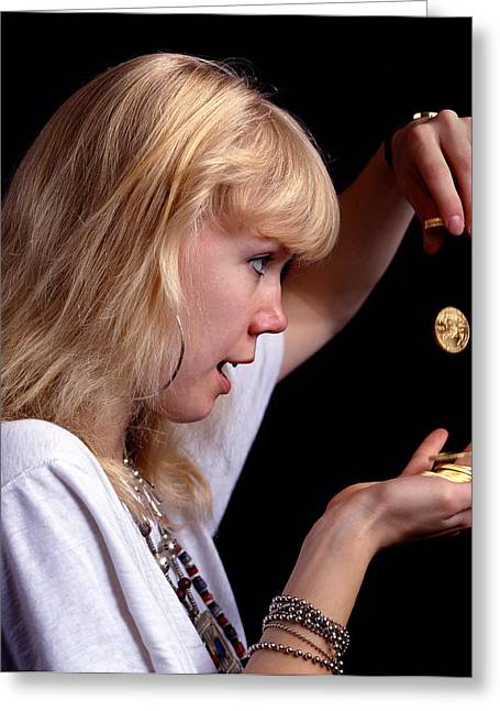 Blonde Girl Photographs Greeting Cards - Golden Girl Greeting Card by Murray Bloom