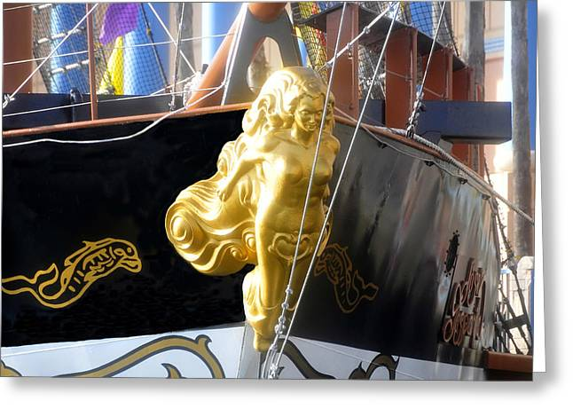 Pirate Ship Greeting Cards - Golden Girl of Gasparilla Greeting Card by David Lee Thompson