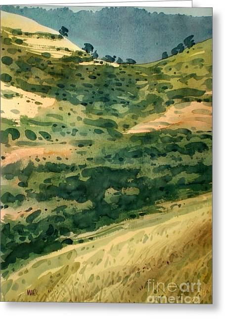 Coastal Range Greeting Cards - Golden Hills Greeting Card by Donald Maier