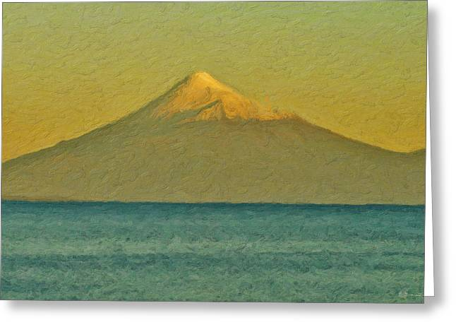 Ultra Modern Greeting Cards - Golden Hour at Sea Greeting Card by Serge Averbukh