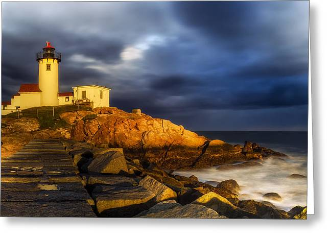 Boston Ma Greeting Cards - Golden Hour Greeting Card by Mark Papke