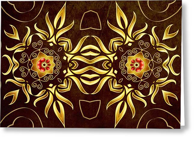 Golden Infinity Greeting Card by Georgiana Romanovna