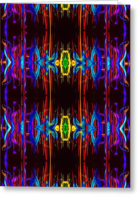 Royal Tapestries - Textiles Greeting Cards - Golden Jade Greeting Card by Kaleidoscopic  Visions