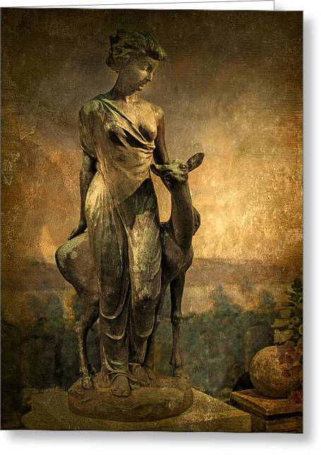 Patina Greeting Cards - Golden Lady Greeting Card by Jessica Jenney