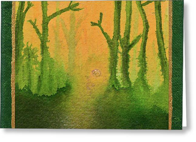 Golden Mist Greeting Card by Donna Blackhall