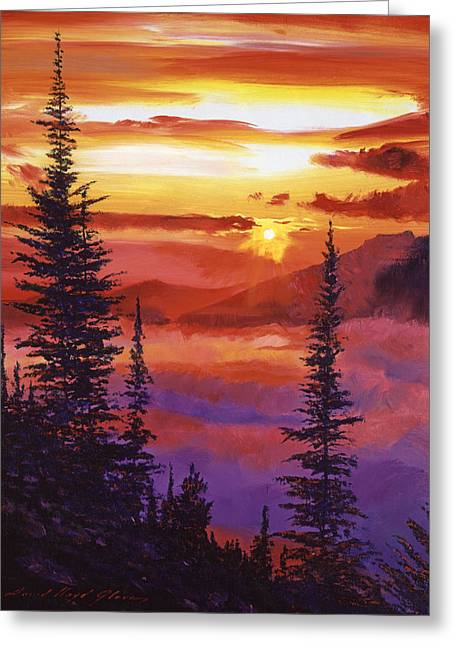 Greeting Cards - Golden Moment Greeting Card by David Lloyd Glover