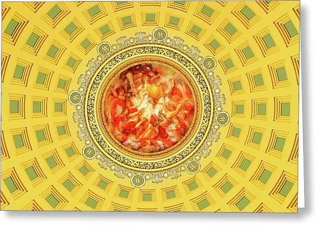 Golden Mural Greeting Card by Todd Klassy