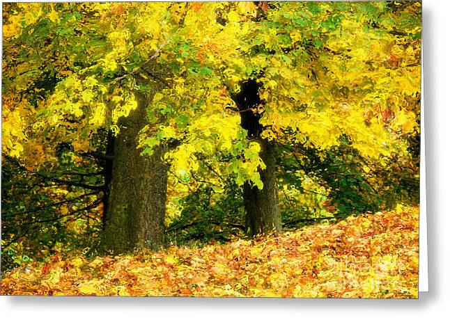 Golden October Greeting Card by Angela Doelling AD DESIGN Photo and PhotoArt