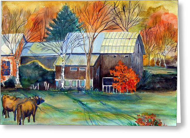 Fall Grass Mixed Media Greeting Cards - Golden Ohio Greeting Card by Mindy Newman