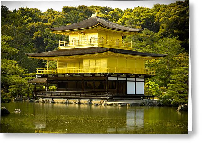 Kyoto Greeting Cards - Golden Palace Greeting Card by Sebastian Musial