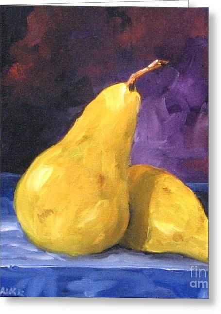 Pear Art Greeting Cards - Golden Pears Greeting Card by Richard T Pranke