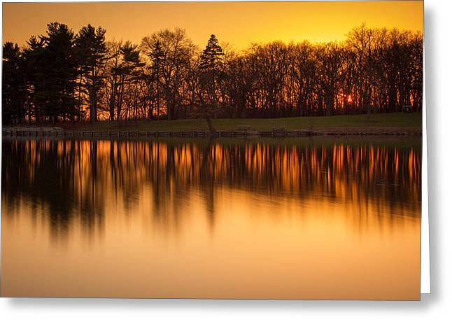 Golden Pond Greeting Cards - Golden Pond Greeting Card by Jackie Novak