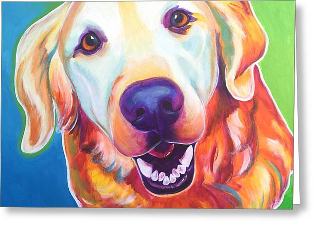 Golden Retriever - Daisy Mae Greeting Card by Alicia VanNoy Call