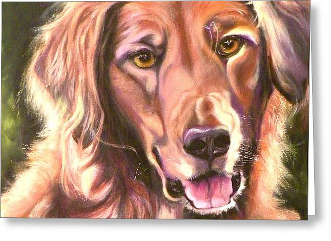 Golden Retriever More Than You Know Greeting Card by Susan A Becker