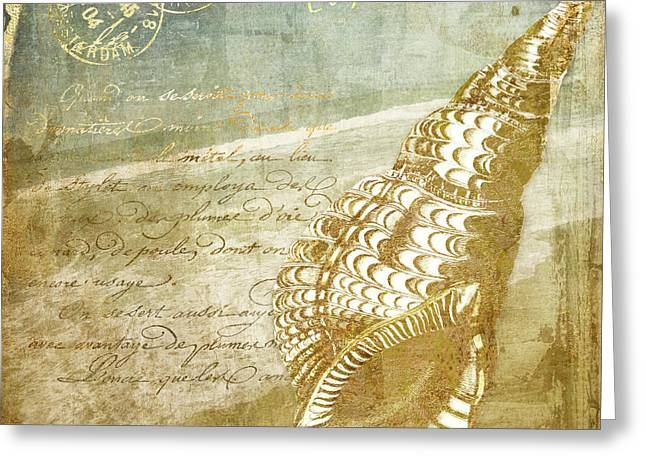Golden Sea Four Greeting Card by Mindy Sommers